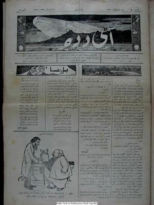 Aydede Gazetesi 16 Ocak 1922 kapağı