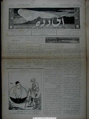 Aydede Gazetesi 19 Ocak 1922 kapağı
