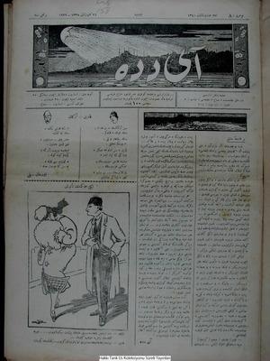 Aydede Gazetesi 27 Ocak 1922 kapağı