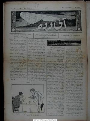 Aydede Gazetesi 30 Ocak 1922 kapağı