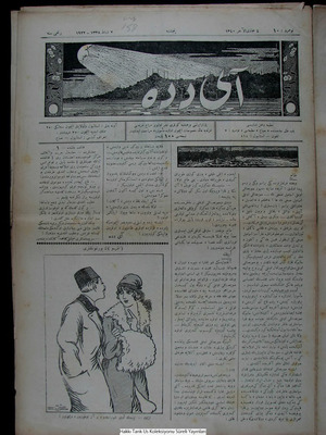 Aydede Gazetesi 3 Şubat 1922 kapağı