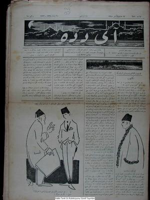 Aydede Gazetesi 20 Şubat 1922 kapağı