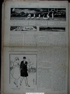 Aydede Gazetesi 24 Şubat 1922 kapağı