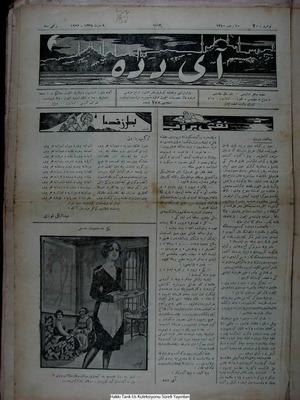 Aydede Gazetesi 9 Mart 1922 kapağı