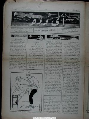 Aydede Gazetesi 16 Mart 1922 kapağı