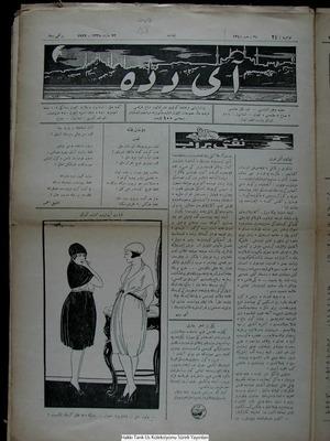 Aydede Gazetesi 23 Mart 1922 kapağı