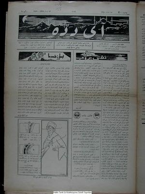 Aydede Gazetesi 13 Nisan 1922 kapağı