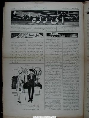 Aydede Gazetesi 16 Nisan 1922 kapağı