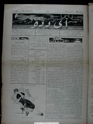 Aydede Gazetesi 20 Nisan 1922 kapağı