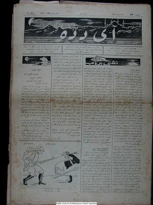 Aydede Gazetesi 23 Nisan 1922 kapağı