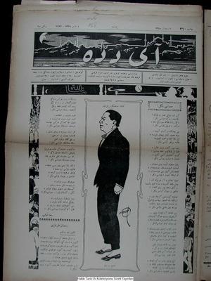 Aydede Gazetesi 4 Mayıs 1922 kapağı