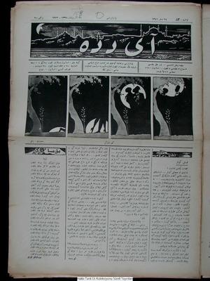 Aydede Gazetesi 16 Ekim 1922 kapağı