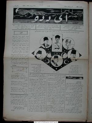Aydede Gazetesi 26 Ekim 1922 kapağı