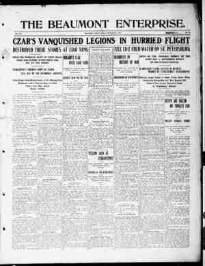 The Beaumont Enterprise Gazetesi September 4, 1904 kapağı