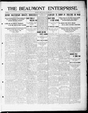The Beaumont Enterprise Gazetesi September 8, 1904 kapağı