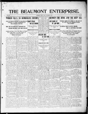 The Beaumont Enterprise Gazetesi September 9, 1904 kapağı