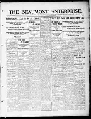 The Beaumont Enterprise Gazetesi September 14, 1904 kapağı