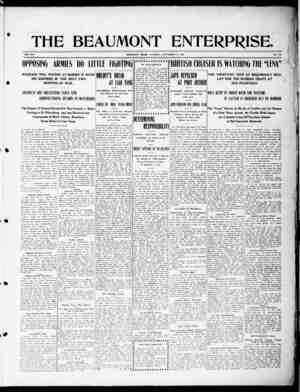 The Beaumont Enterprise Gazetesi September 15, 1904 kapağı