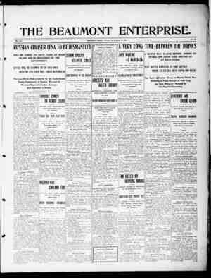 The Beaumont Enterprise Gazetesi September 16, 1904 kapağı