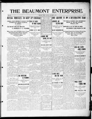 The Beaumont Enterprise Gazetesi September 17, 1904 kapağı
