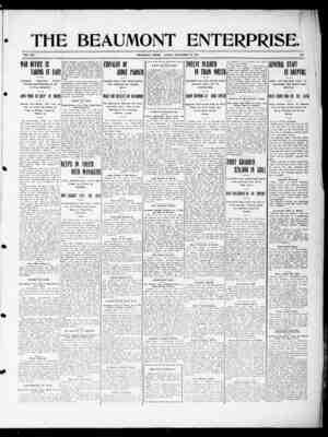 The Beaumont Enterprise Gazetesi September 18, 1904 kapağı