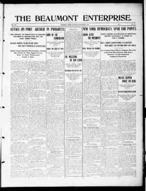 The Beaumont Enterprise Gazetesi September 21, 1904 kapağı