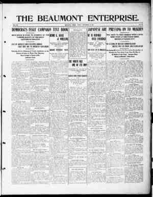 The Beaumont Enterprise Gazetesi September 23, 1904 kapağı