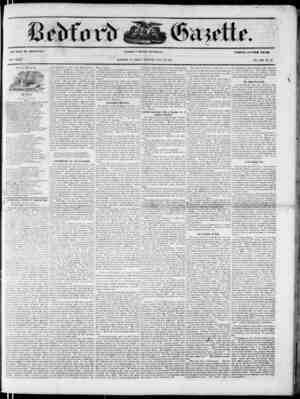 Bedford Gazette Gazetesi June 23, 1854 kapağı