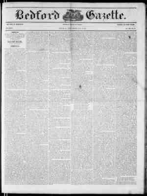 Bedford Gazette Gazetesi July 21, 1854 kapağı