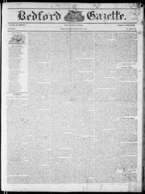 Bedford Gazette Gazetesi July 28, 1854 kapağı