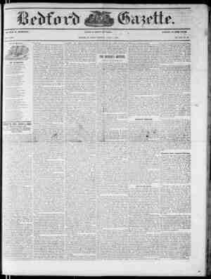 Bedford Gazette Gazetesi August 4, 1854 kapağı