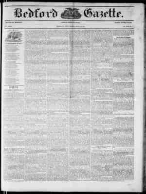 Bedford Gazette Gazetesi August 11, 1854 kapağı