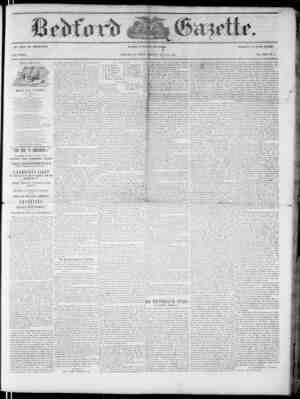 Bedford Gazette Gazetesi September 29, 1854 kapağı