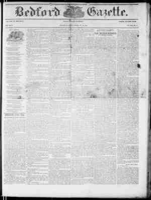 Bedford Gazette Gazetesi November 24, 1854 kapağı