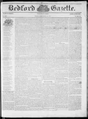 Bedford Gazette Gazetesi December 1, 1854 kapağı