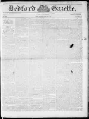 Bedford Gazette Gazetesi December 8, 1854 kapağı