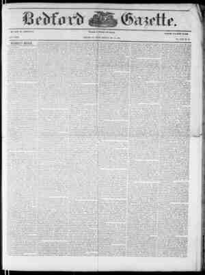 Bedford Gazette Gazetesi December 15, 1854 kapağı
