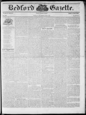 Bedford Gazette Gazetesi March 16, 1855 kapağı