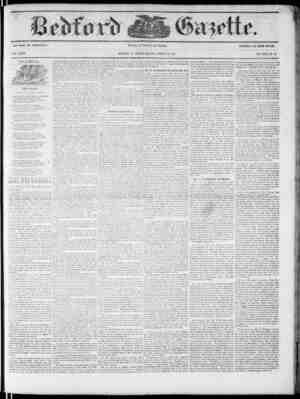 Bedford Gazette Gazetesi March 23, 1855 kapağı