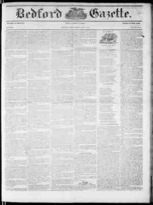 Bedford Gazette Gazetesi April 13, 1855 kapağı