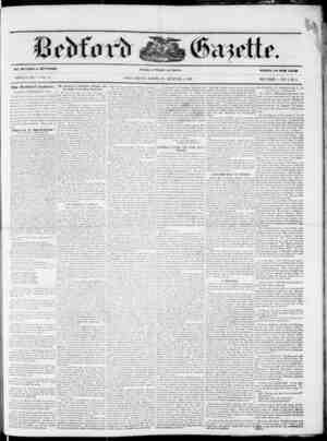 BY MEYERS fc BEDFORD. WHOLE NO. 2761. VOL 53. The Bed font Gazette. TUESDAY, SEPTEMBER 8, 1857. order that our readers may