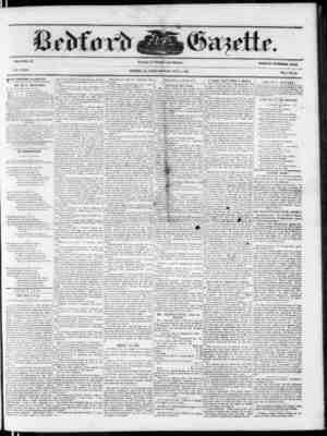 VOLUME 37. NEW SERIES. ITHE BEDFORD GAZETTE IS EVERY' FRIDAY MORNI.MQ I*V EI. r. .TIKYEHS, At th following terms, to wit: $1