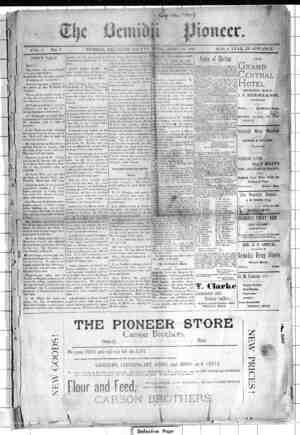 Bemidji Pioneer Gazetesi 30 Nisan 1896 kapağı