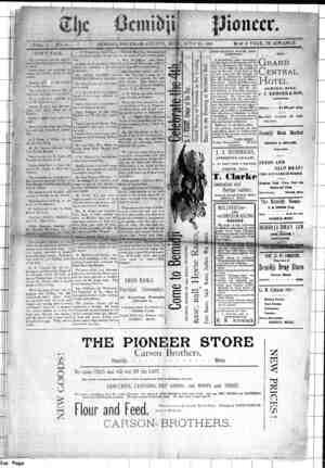 Bemidji Pioneer Gazetesi 25 Haziran 1896 kapağı
