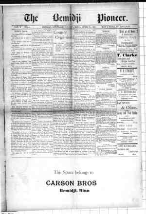 Bemidji Pioneer Gazetesi 15 Nisan 1897 kapağı