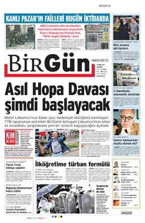 Birgün Gazetesi 16 Şubat 2012 kapağı