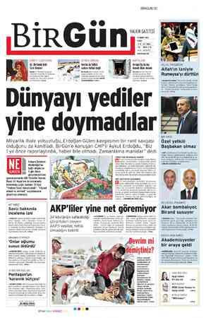 Birgün Gazetesi 17 Şubat 2012 kapağı