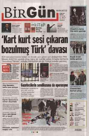 Birgün Gazetesi 18 Şubat 2012 kapağı