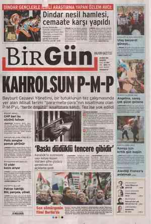 Birgün Gazetesi 20 Şubat 2012 kapağı