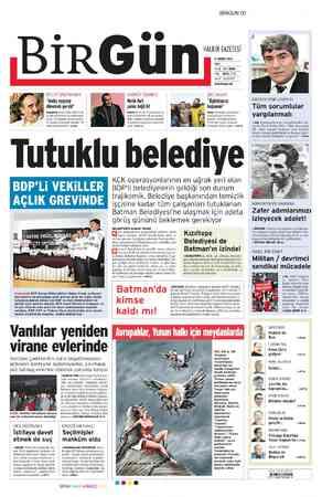 Birgün Gazetesi 21 Şubat 2012 kapağı